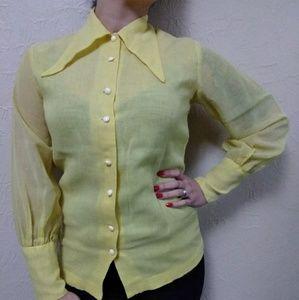 Vintage 1970's collar top